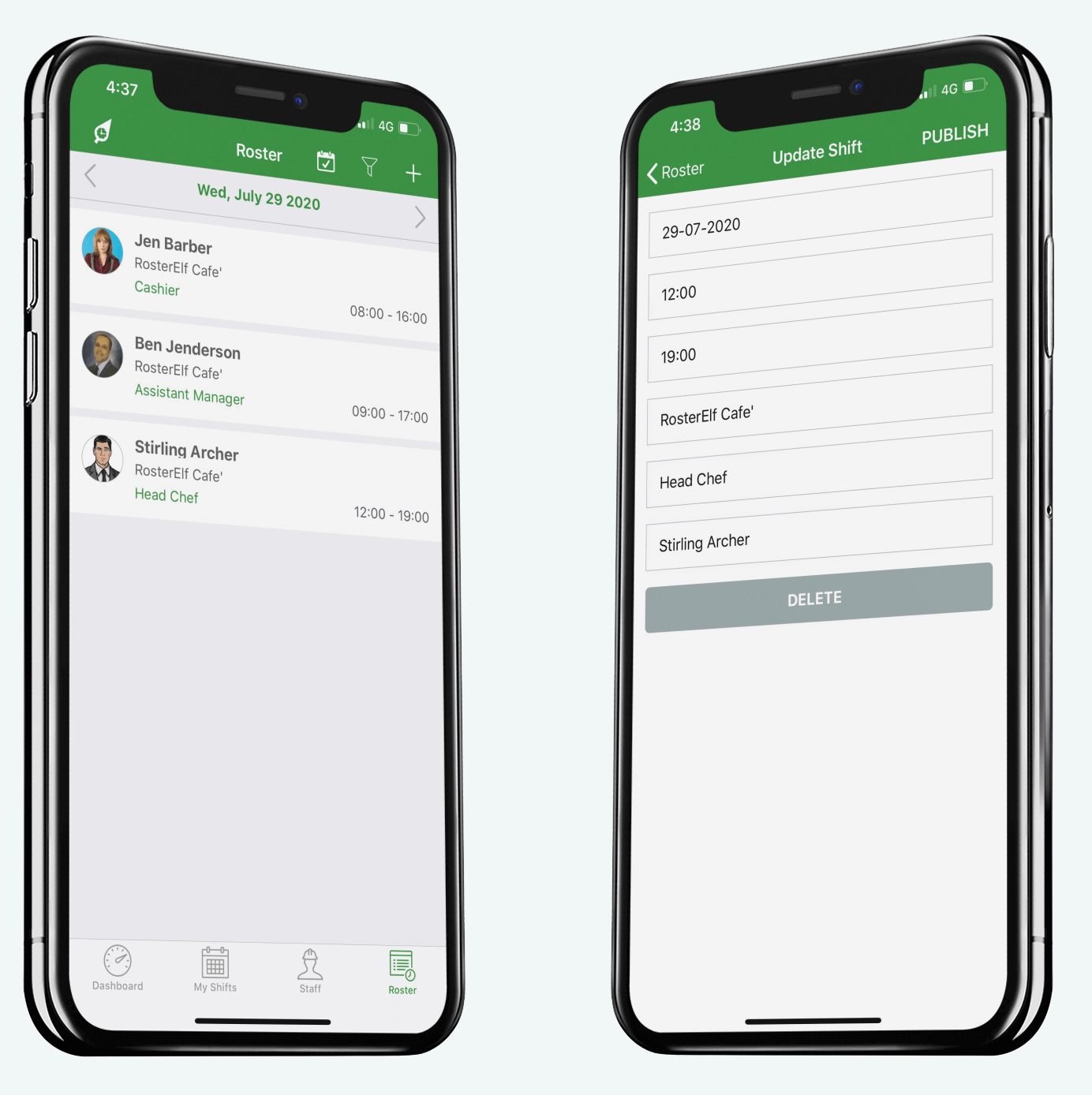 full customisable pay template