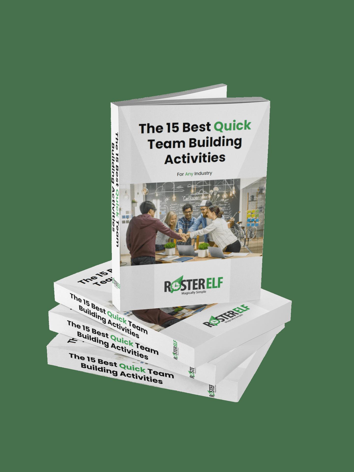 RosterElf - 15 Best Team Building Acitvities Book Preview